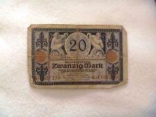 20 mark Germany 1918 banknote free shipping