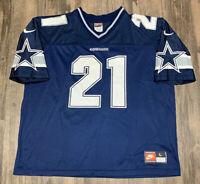 Dallas Cowboys Vintage Nike NFL Football Jersey Dion Sanders Mens L Authentic