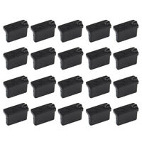 20x Black Anti Dust Stopper Female USB Protector Plugs A Type Rubber Cover Case