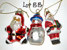 WATERFORD  HOLIDAY HEIRLOOMS  3 CHRISTMAS ORNAMENTS  (BB) - NEW
