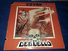 ZZ TOP/BILLY GIBBONS& Frank Beard SIGNED ALBUM LP DEGUELLO!
