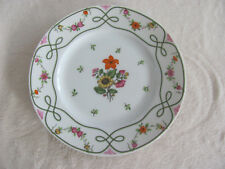 Ceralene Guirlandes Limoges France-Floral on White- Bread & Butter Plate(s)- 6