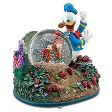 "Disney Donald Duck ""Chip & Dale Strawberry Garden"" Musical Snowglobe Globe NIB !"