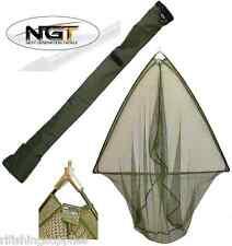 50 INCH GREEN LANDING NET METAL BLOCK + NGT SPECIALIST CARP FISHING STINK BAG