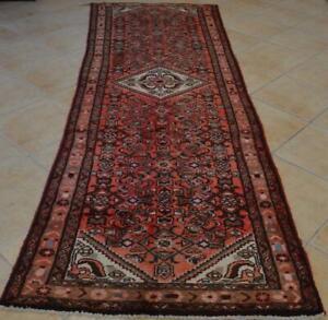 3'7x10'4 Vintage Tribal Kurdish Turkish Wool Rug Oriental Carpet Handmade Runner