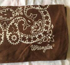 Vintage WESTERN Brown WRANGLER Cotton Bandana