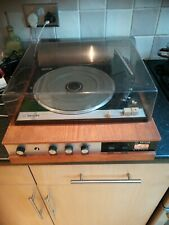 Vintage 1960s Philips GF 245 Mercury Diamond Suitcase Record Vinyl Player Wood