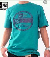 New Era Branded Visor T-Shirt viceblue/grey - Small