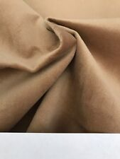 "Light Brown Velvet 100% Polyester Fabric Piece 56""W x 35""L"