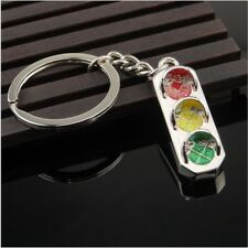 Fashion Mini Traffic Light Key Ring Chain Classic 3D Solid Keyfob Keychain YG