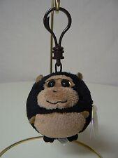 Ty Beanie Ballz TANK Brown Gorilla Monkey Plush NEW Backpack Bag Clip