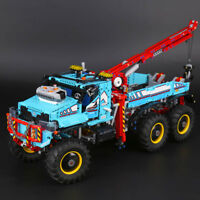New Technic 6X6 All Terrain Tow Truck Motor Power C0mp4tible 42070 Set