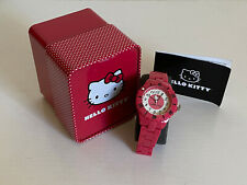 SANRIO HELLO KITTY RED REDDISH PINK RESIN PLATIC STRAP BRACELET WATCH-H3WL1004