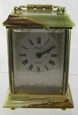 Vintage Onyx Azizoff Carriage Clock - Junghans Germany quartz movement