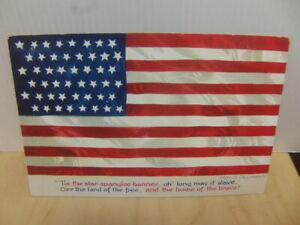 American Flag c 1910 colourful Postcard USA