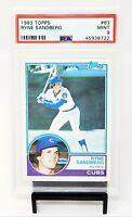 1983 Topps HOF Chicago Cubs RYNE SANDBERG Rookie Baseball Card PSA 9 MINT