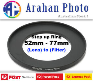 Step Up Ring 52-77Filter Lens Adapter 52mm Filter to 77mm Lens