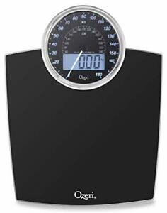 Ozeri Digital Body Weight Bathroom Scale with Electro Mechanical Dial (Black)