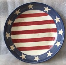 American Flag Large Bowl Serving Chips Today's Living Distressed