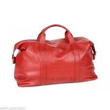 Red Leather Bag, Weekender Overnight Bag,Genuine Leather Handbag, Oran Handbag,