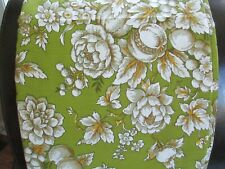 "ZEPEL screen print total action fabric green white floral pre shrunk 108"" x 50"""