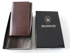 Genuine Maserati Leather Key Case Keychain Sleutelhanger Key ring