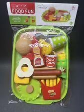 Pretend Fast food Toy Play Hamburger Fries Hotdog Shop Kids Store Gift Fun Meal