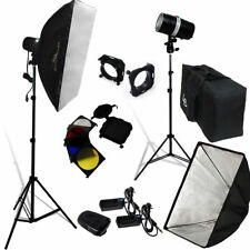 Lusana Studio 320W Photography Lighting Kit Flash Strobe Stand Carry Bag