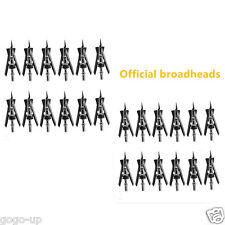 "24X Official SlipCam Broadheads 2 Blade 100 Grain 2.3"" Cut Archery Arrow Tips"