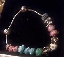 Authentic Pandora ESSENCE  Bracelet W/HEALTH Bead FREE BEADs Charms lot-details
