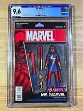 Ms Marvel #1 (2016 Marvel Comics) John Tyler Christopher JTC Variant CGC 9.6