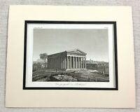 1821 Antique Engraving Ancient Greek The Parthenon Temple Greece Architecture