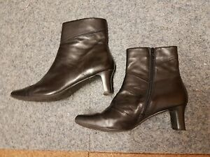 Clarks black ankle boots size 6
