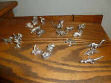 Lot (20) Pewter Small Animal Figurines. Wilton + others (many signed)  Varied.