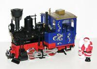 """LGB G 70305-1 Weihnachts-Dampflok mit Weihnachtsmann """"Rauchsatz"""" - NEU"""