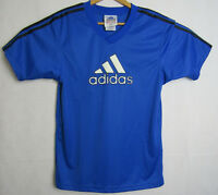VTG Adidas Soccer Jersey Size Small Blue with White Logo 3 Stripe