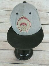 Indian Headdress & Skull Baseball Hat Cap Carbon Elements Snapback Strap