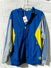 adidas Mens Windbreaker Jacket REVERSIBLE Teorado Originals Trefoil New READsize