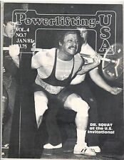 Powerlifting USA Strongman Weightlifting Magazine/Fred Hatfield Dr Squat 1-81