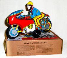 MOTO MECANIQUE à friction motorbike jouet en tole old toys tin toys jouet ancien