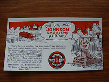 Vintage Johnson Gasoline, Tractor Oil, and Stok spra  Advertising ink blotters