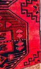 CARPET 47 in. x 53 in. Bukhara gorgeous color area rug PINK ROSE BLACK UZBEK
