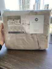 New $150 Hotel Collection King Bedskirt Distressed Chevron 16�Drop Machine Wash