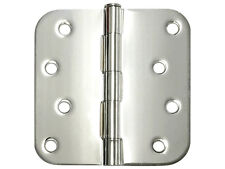 "Polished Chrome 4"" x 4"" Round Corner Exterior Door Hinge Hinges US15 4 Inch"