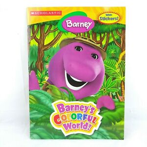 Barney's Colorful World Coloring Book with Stickers Kids Crafts Activities