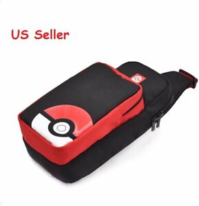 Hori Official Nintendo Switch Adventure Pack Travel Sling Bag Pokemon Pokeball