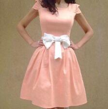 Vestiti da donna rosa senza marca lunghezza al ginocchio