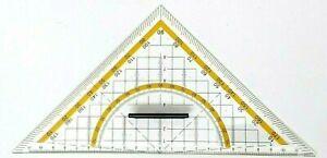 Set Square Ruler Triangle Triangular Protractor Navigation Nautical