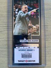 Portland Trail Blazers @ Timberwolves 1/5/2013 NBA Ticket Stub - Lillard Rookie