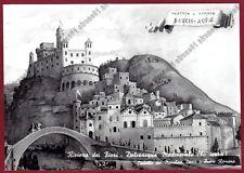 IMPERIA DOLCEACQUA 07 VEDUTA MEDIOEVALE - CASTELLO PONTE Pittore MARIO RAIMONDO